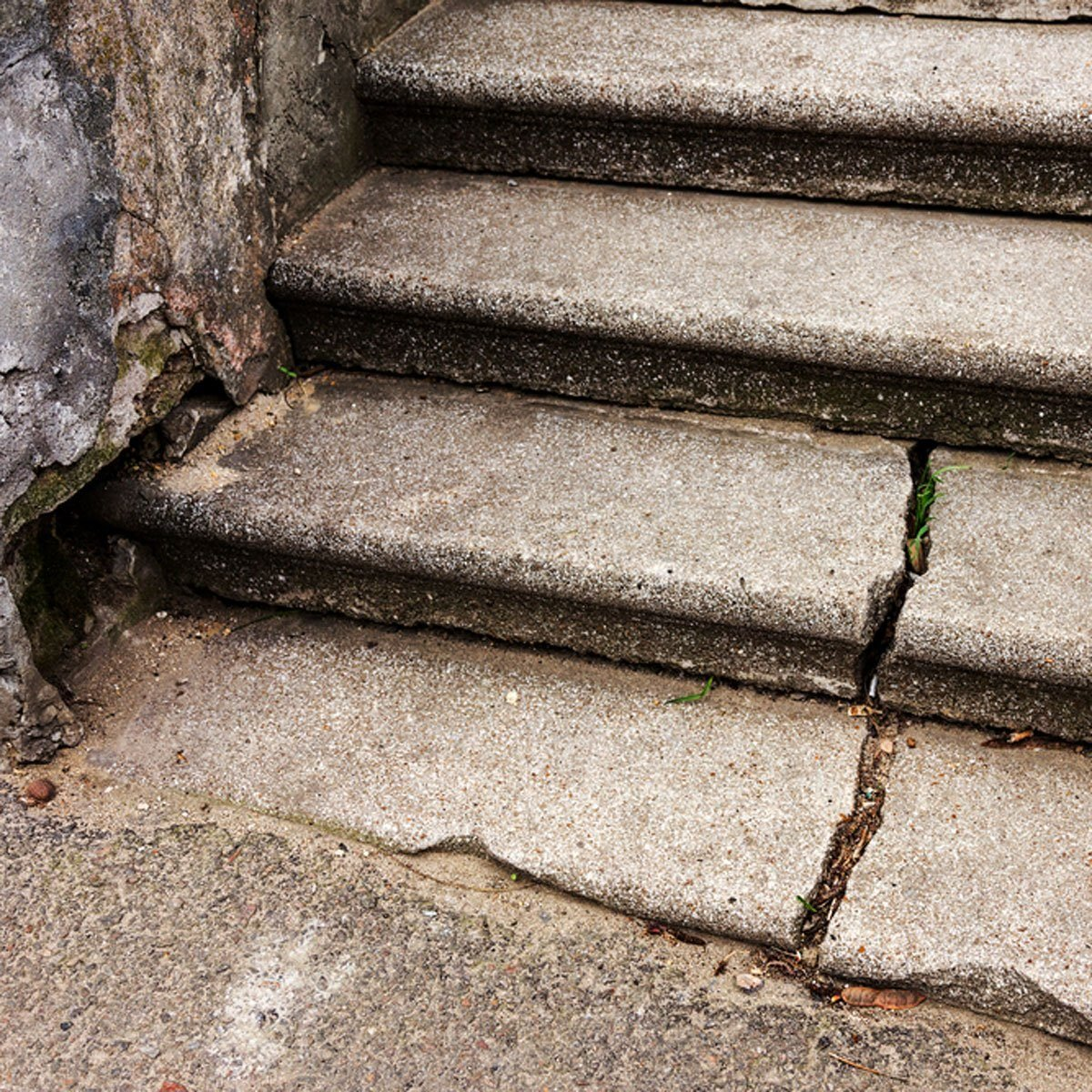 cracked steps