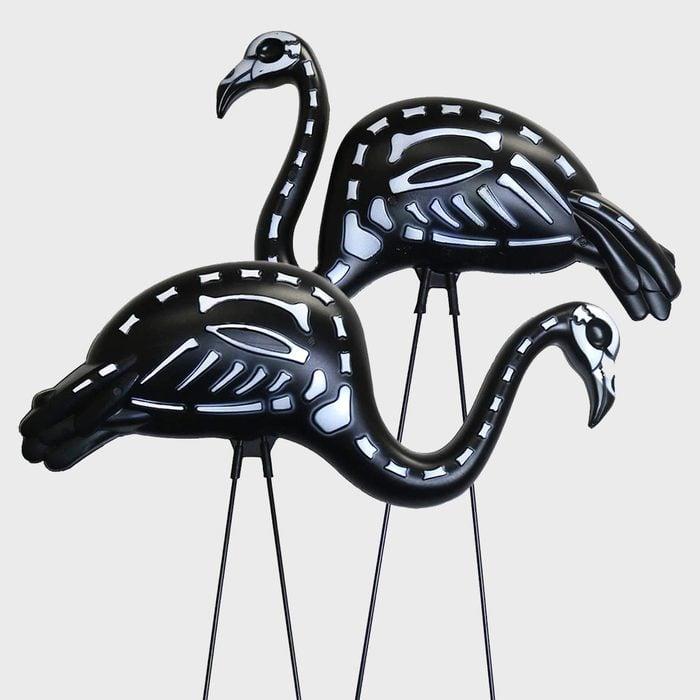 Skeleton Flamingos Halloween Decoration