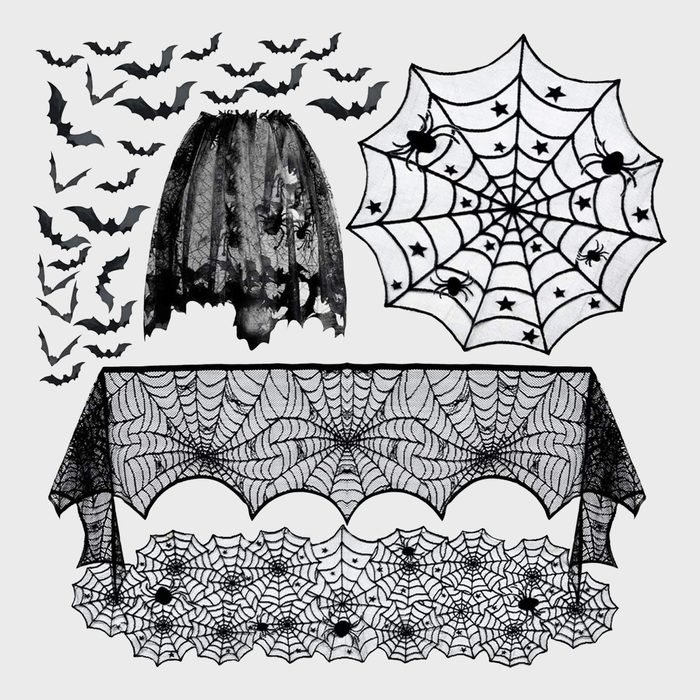 Spiderweb Table Runner Set Halloween Decoration