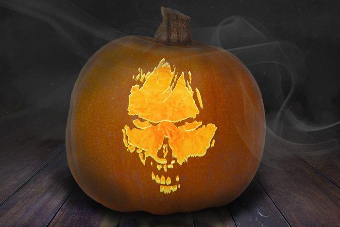 Zombie carved Pumpkin