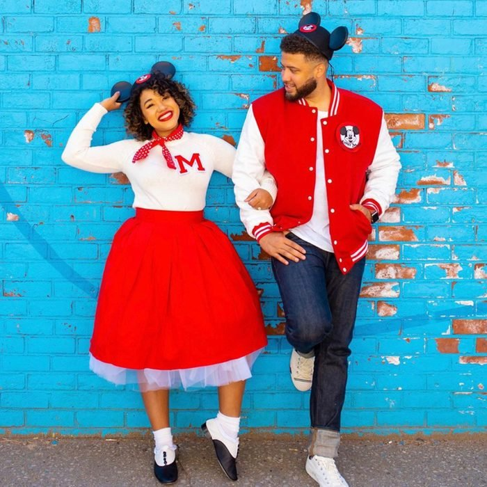 1950s Mickey And Minnie Halloween Costume