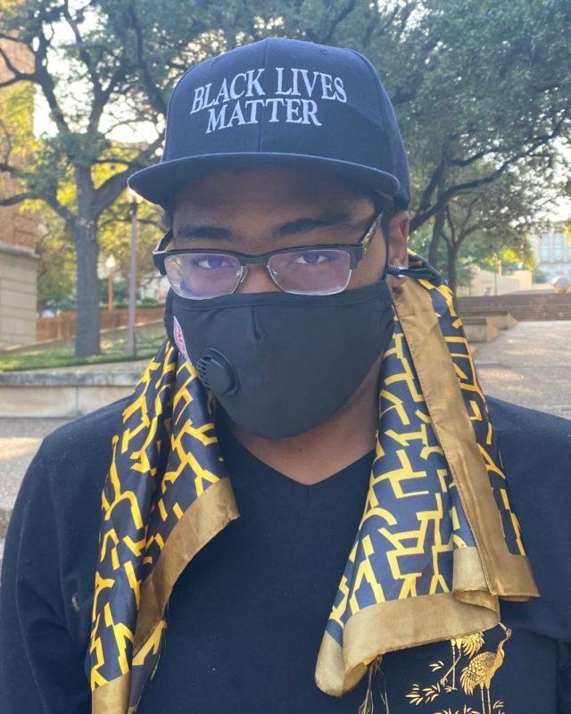 Braxton Rae black lives matter mask