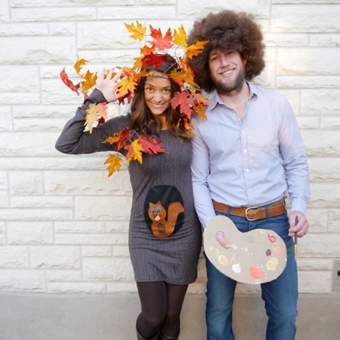 Bob Ross And Tree Costume