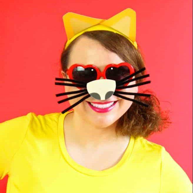 Diy Emoji Cat Face Costume