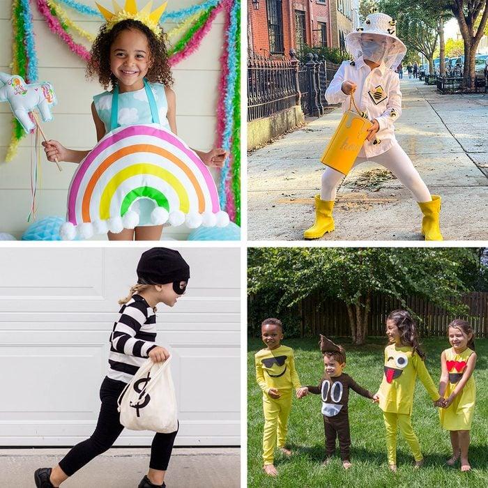 Diy Kids Halloween Costumes Grid Collage