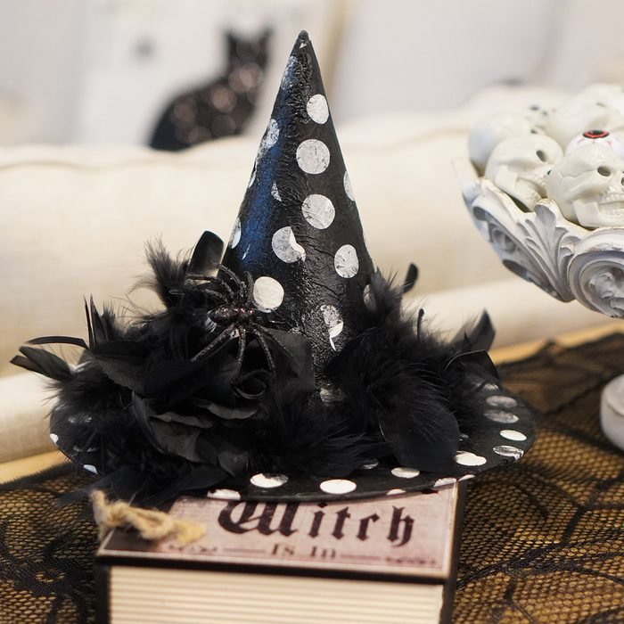Decoupage Witch Hat Decor Ellemariehome