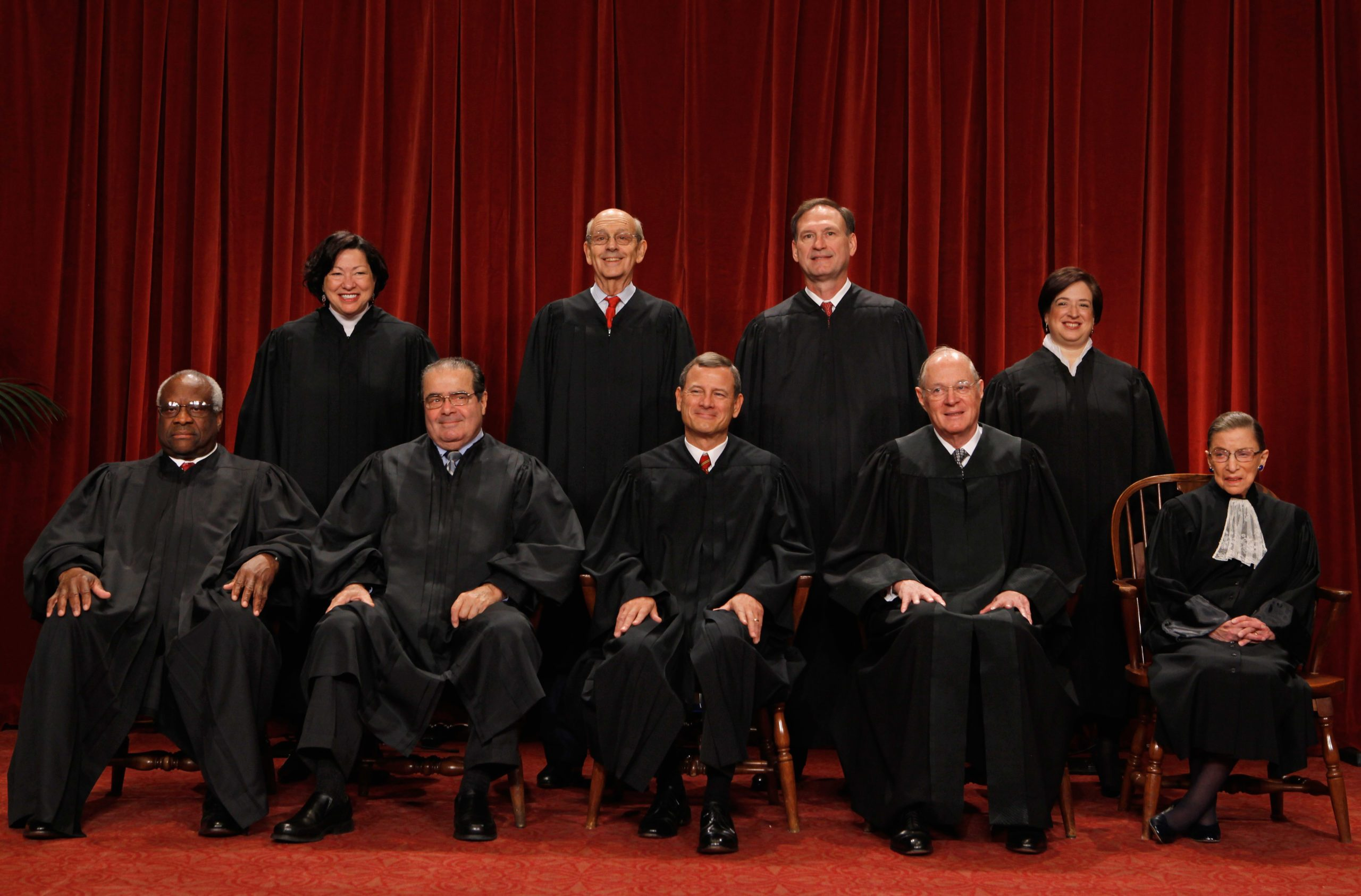 """New U.S. Supreme Court Poses For """"Class Photo"""""""