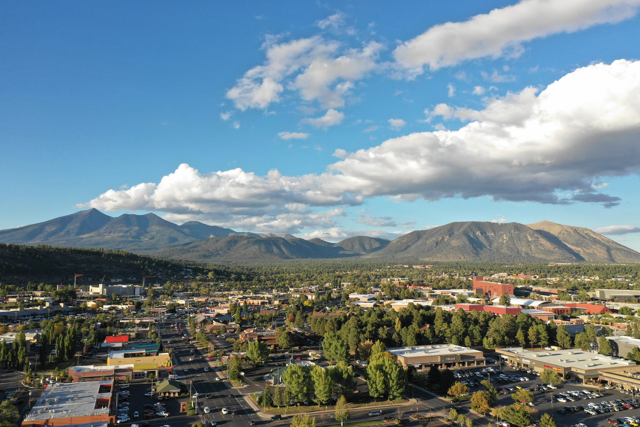 The beauty of Flagstaff Mountain in summer
