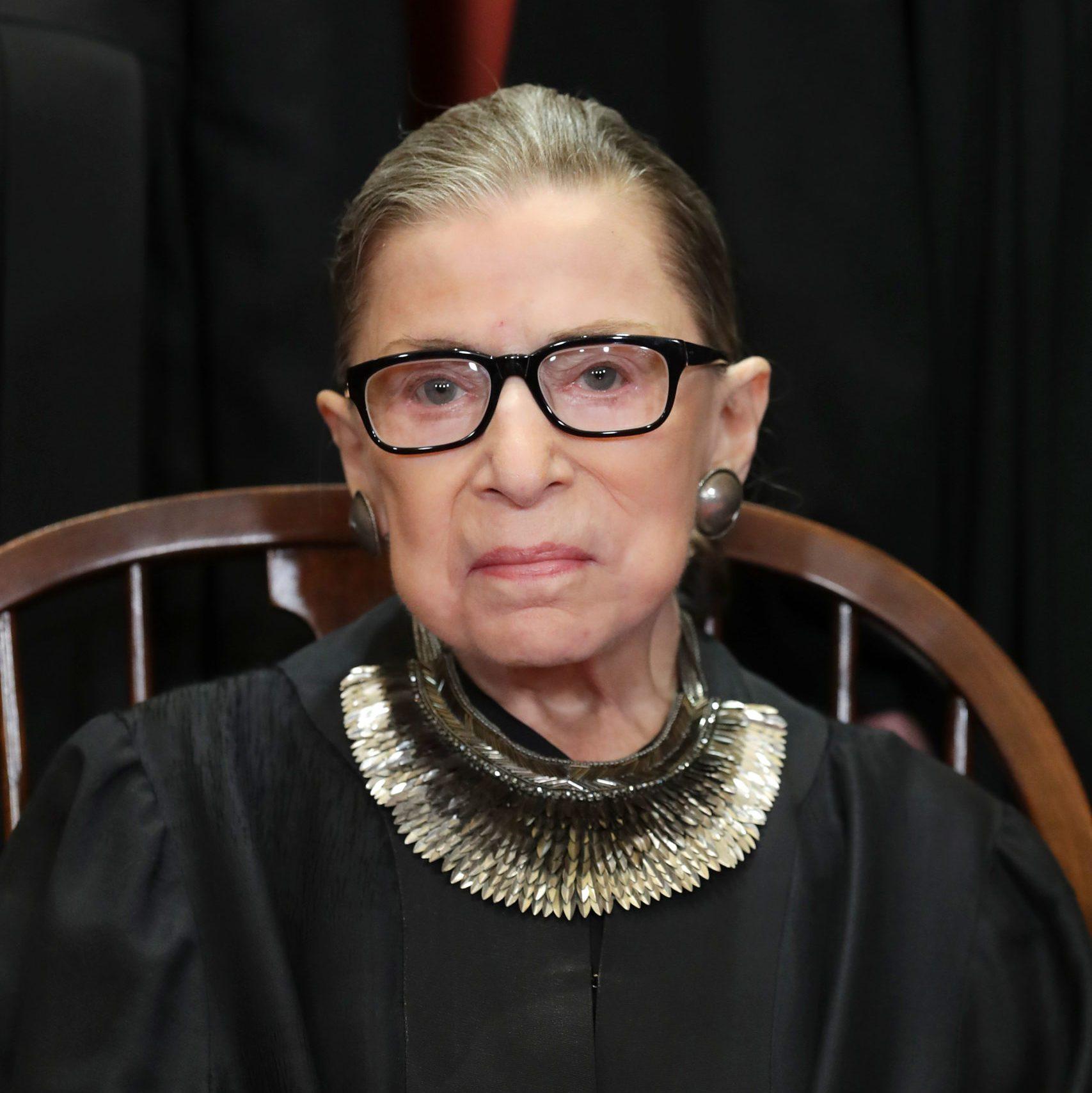 U.S. Supreme Court Justices Pose For Official Group Portrait