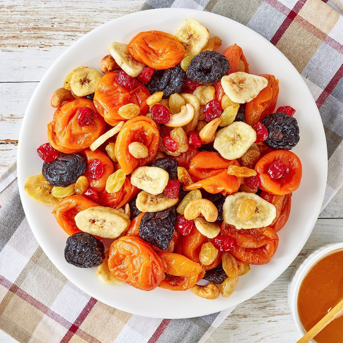 dried fruit mix on a plate
