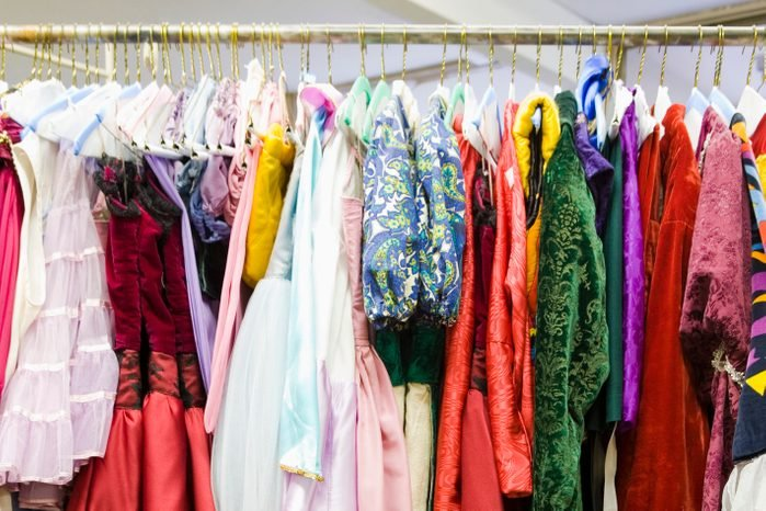 Costumes on a Rack