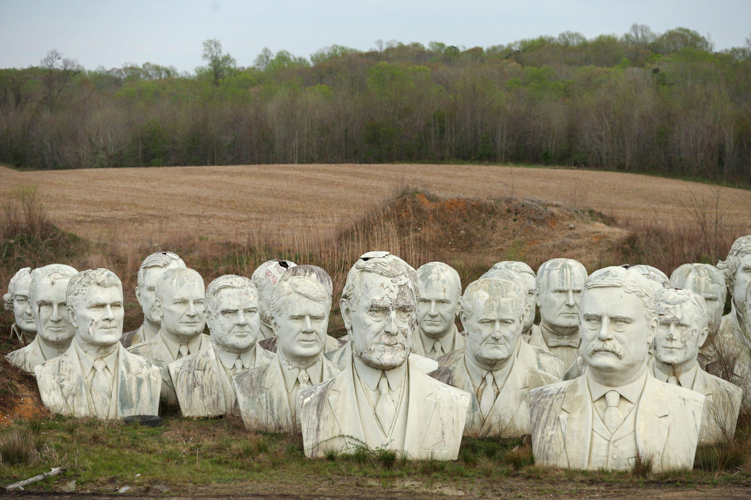 Remnants Of Bankrupted Presidents Park Stored On Private Family Farm In Croaker, Virginia