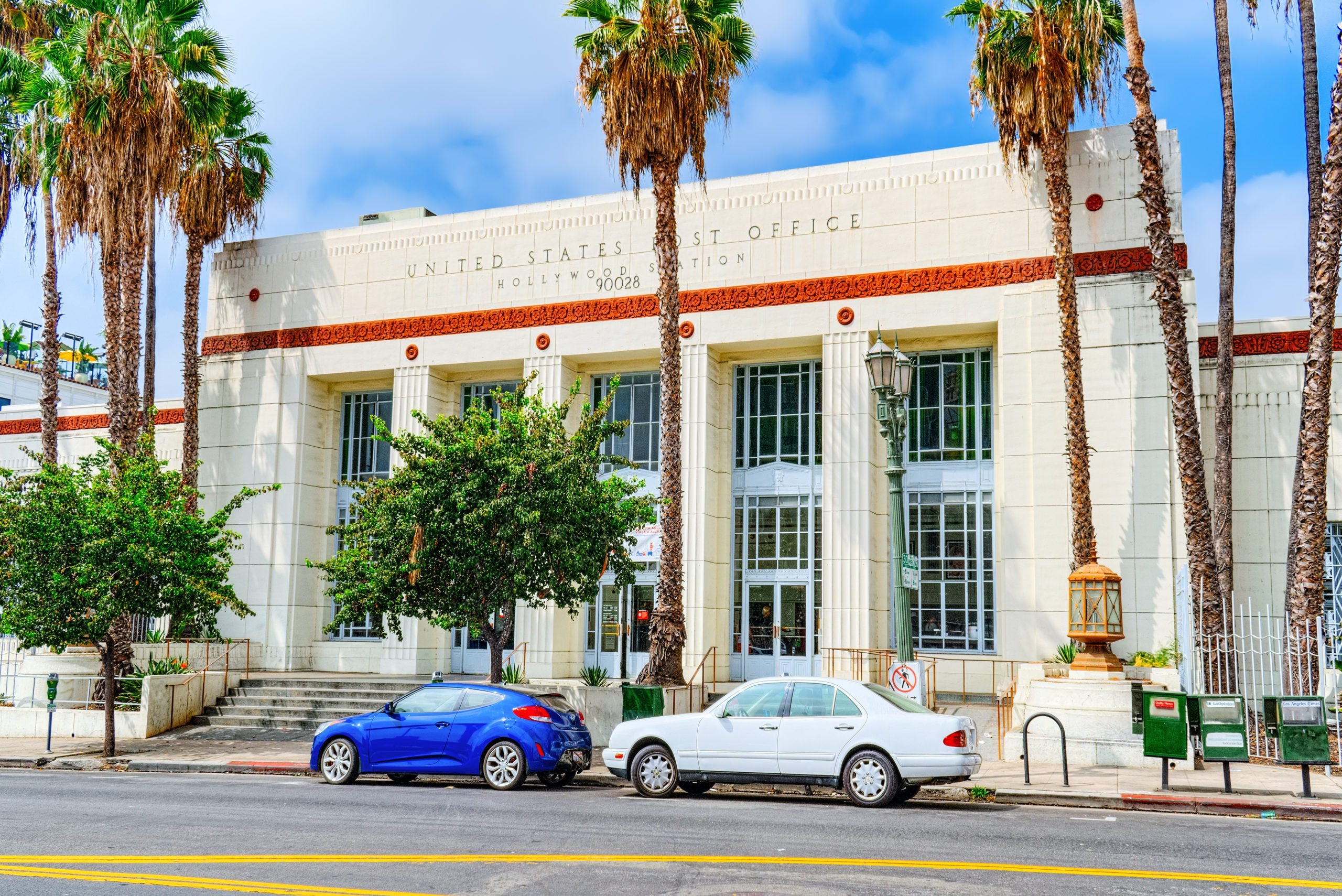 United States Post Office on Hollywood Boulevard in Hollywood.