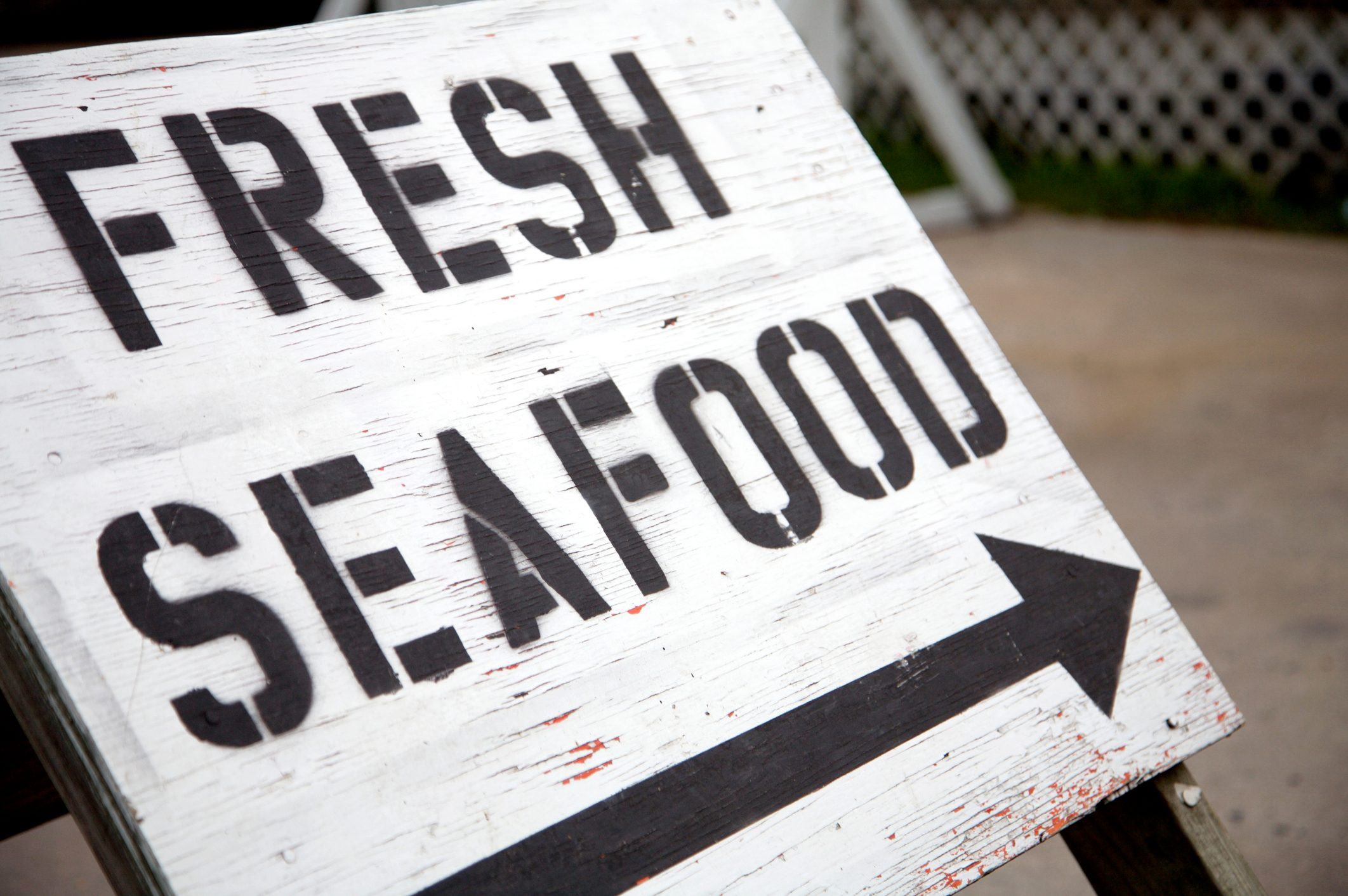 outer banks coastal sign fresh seafood
