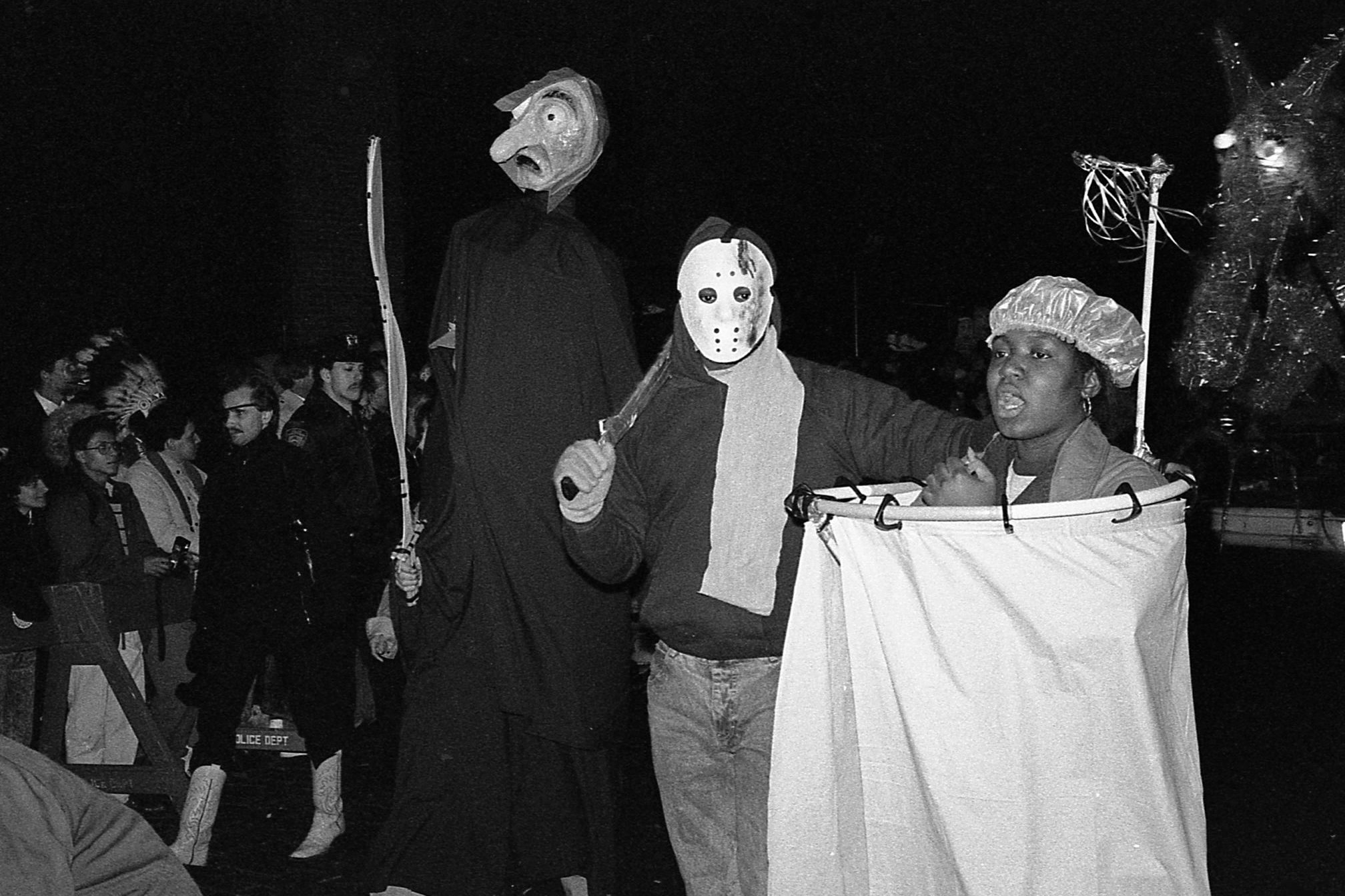 Revelers At The Greenwich Village Halloween Parade
