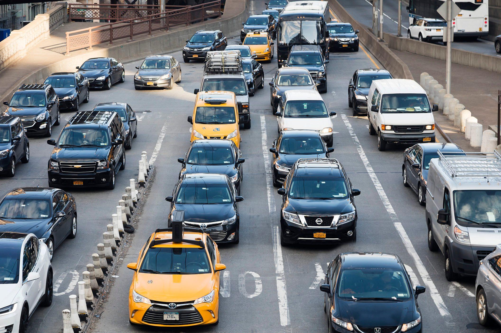 Traffic Jam Near Queensboro Bridge, New York City