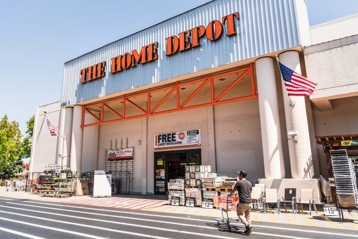 People shopping at The Home Depot