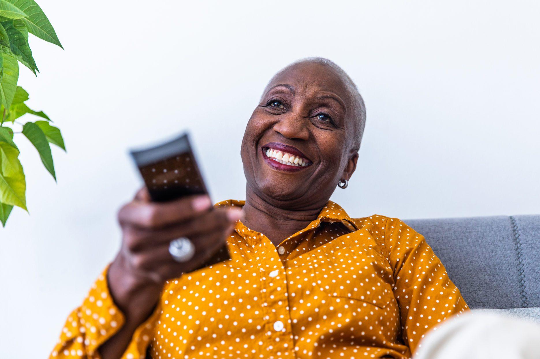 Tech Savvy Senior Woman