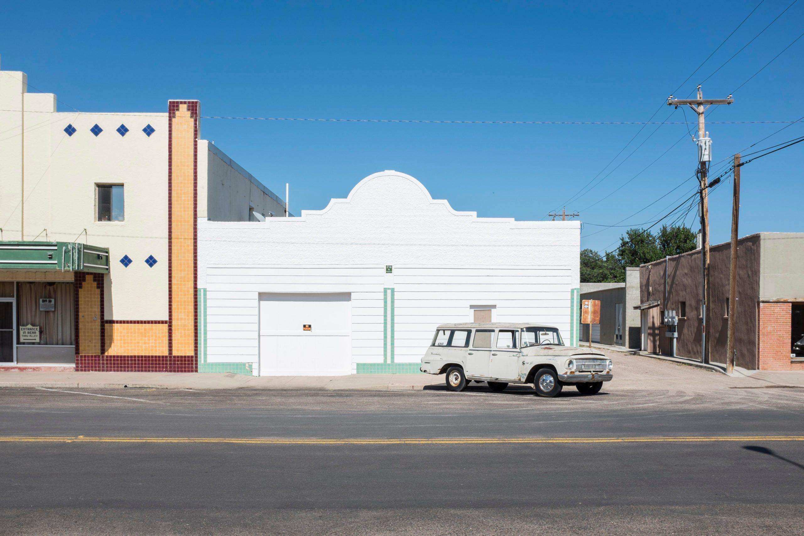old car in Marfa, Texas