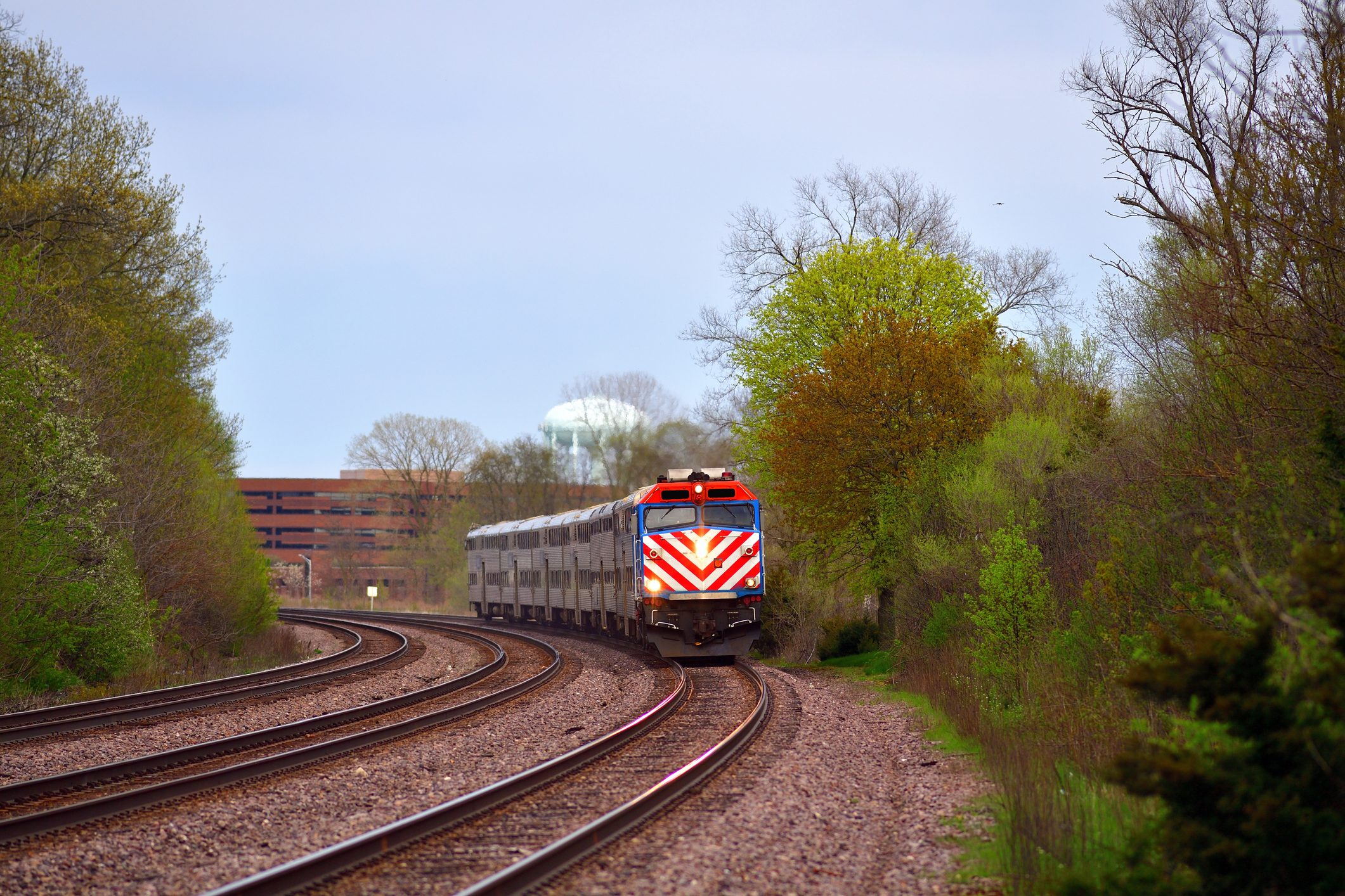 Commuter Train in Illinois