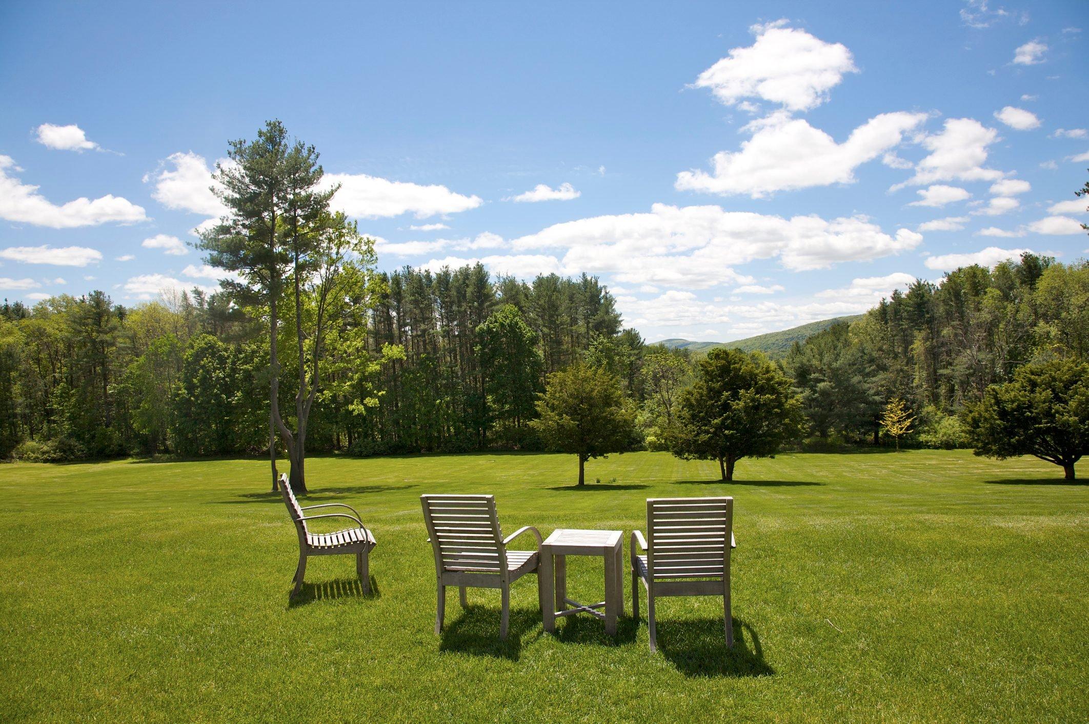 Lawn at Wheatleigh, Lenox, The Berkshires, Massachusetts, USA