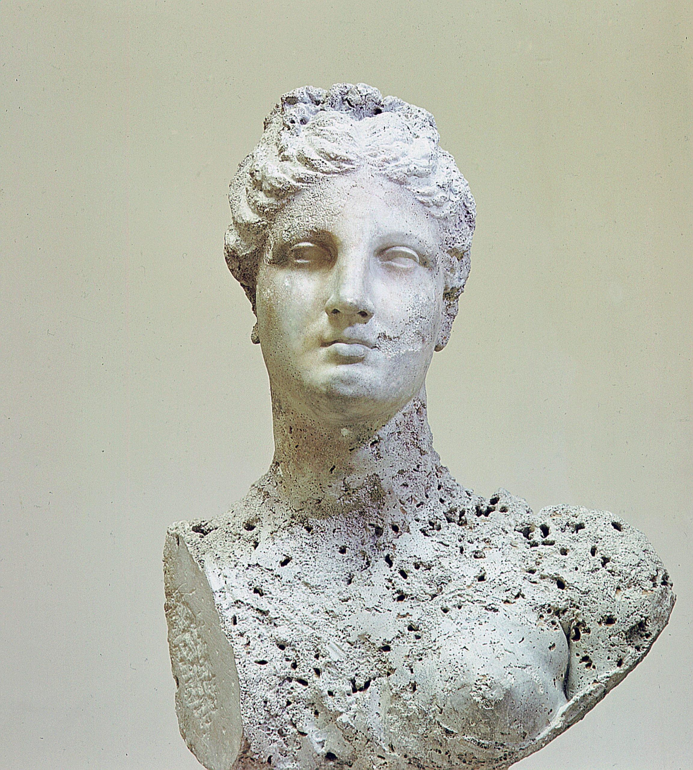 Statue found in a sunken Roman ship at Mahdia in Tunisia