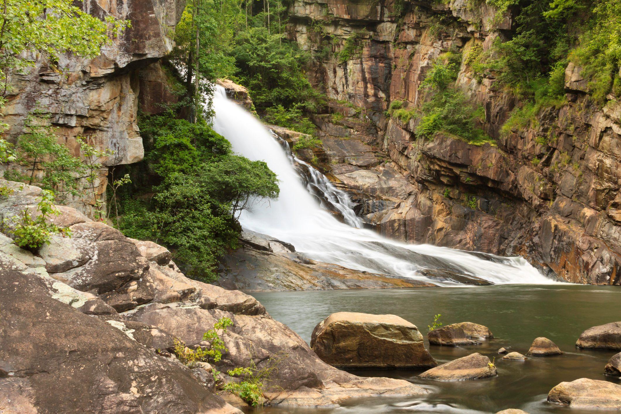 Waterfall In Tallulah Gorge