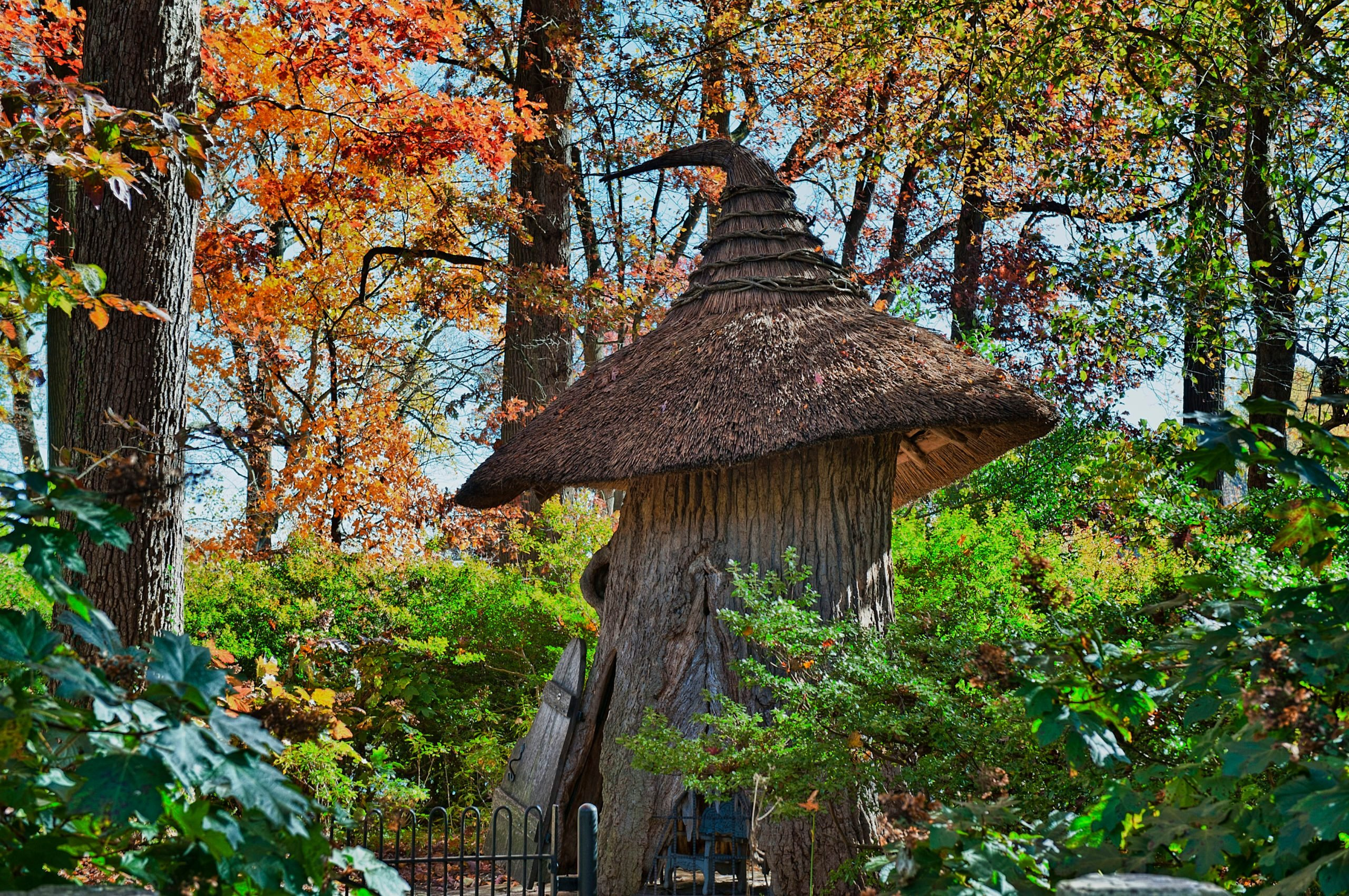 Tulip Tree House in the Enchanted Woods of Winterthur Gardens,