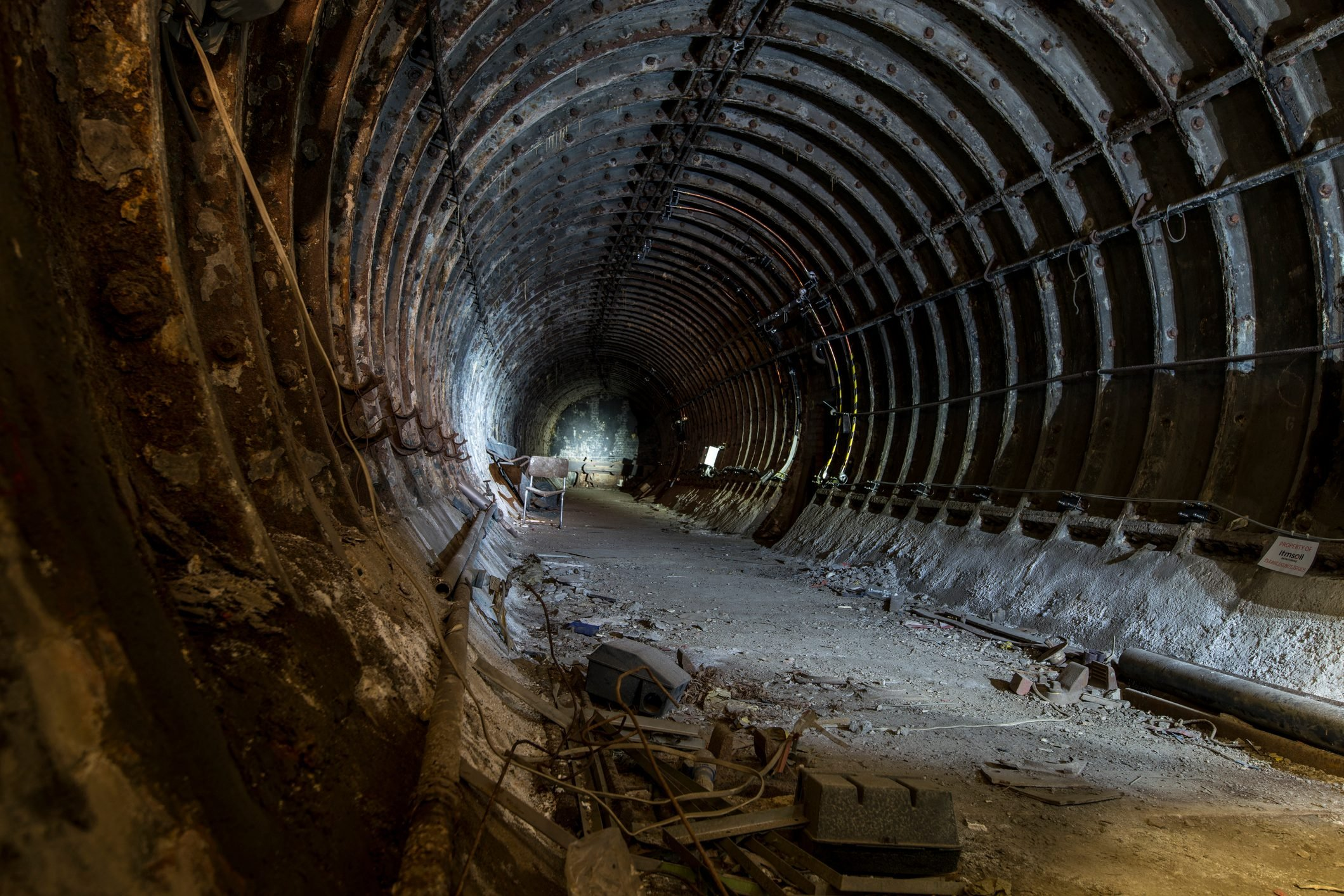 Abandoned tunnel in London