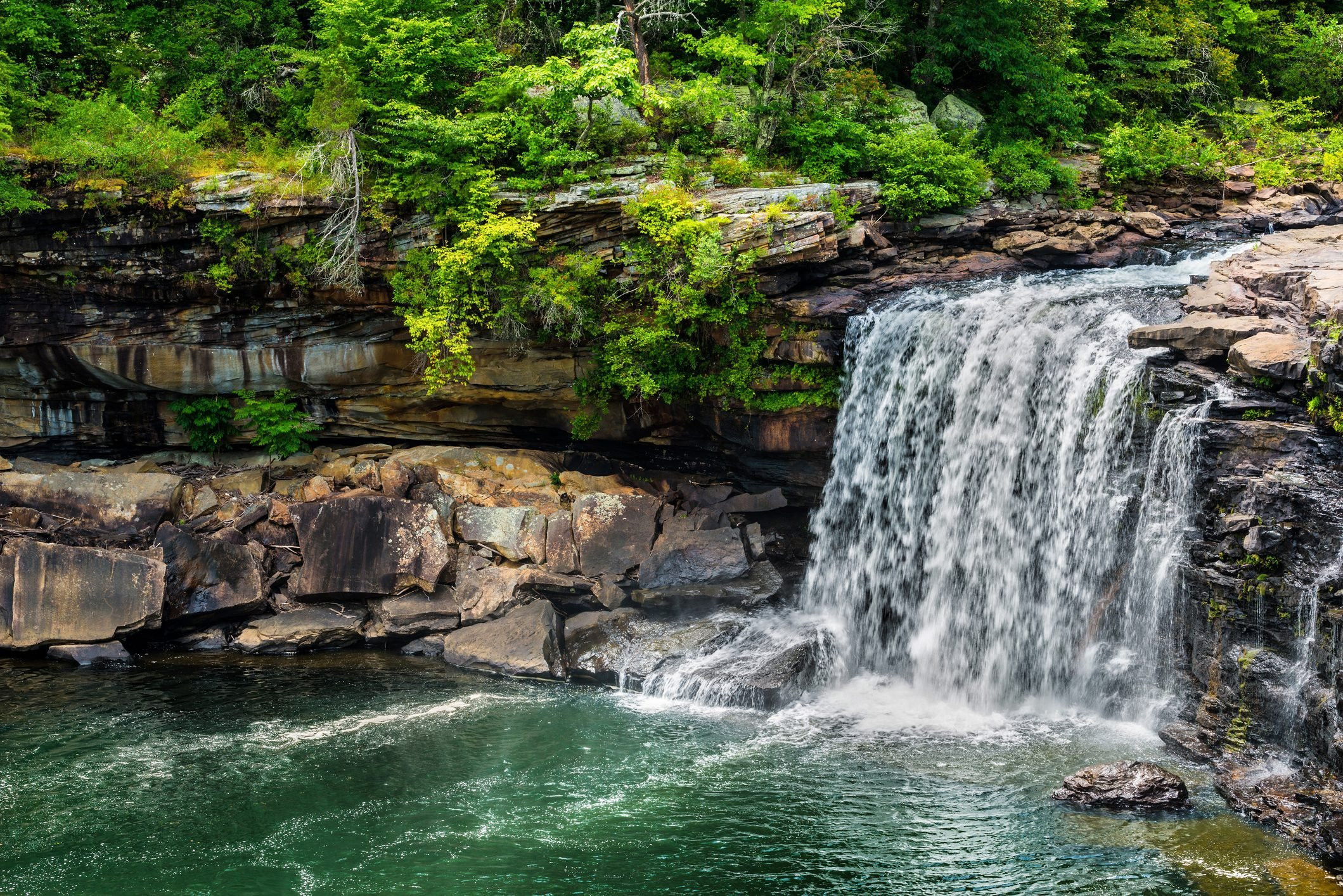 Waterfall at Little River Canyon National Preserve in northern A