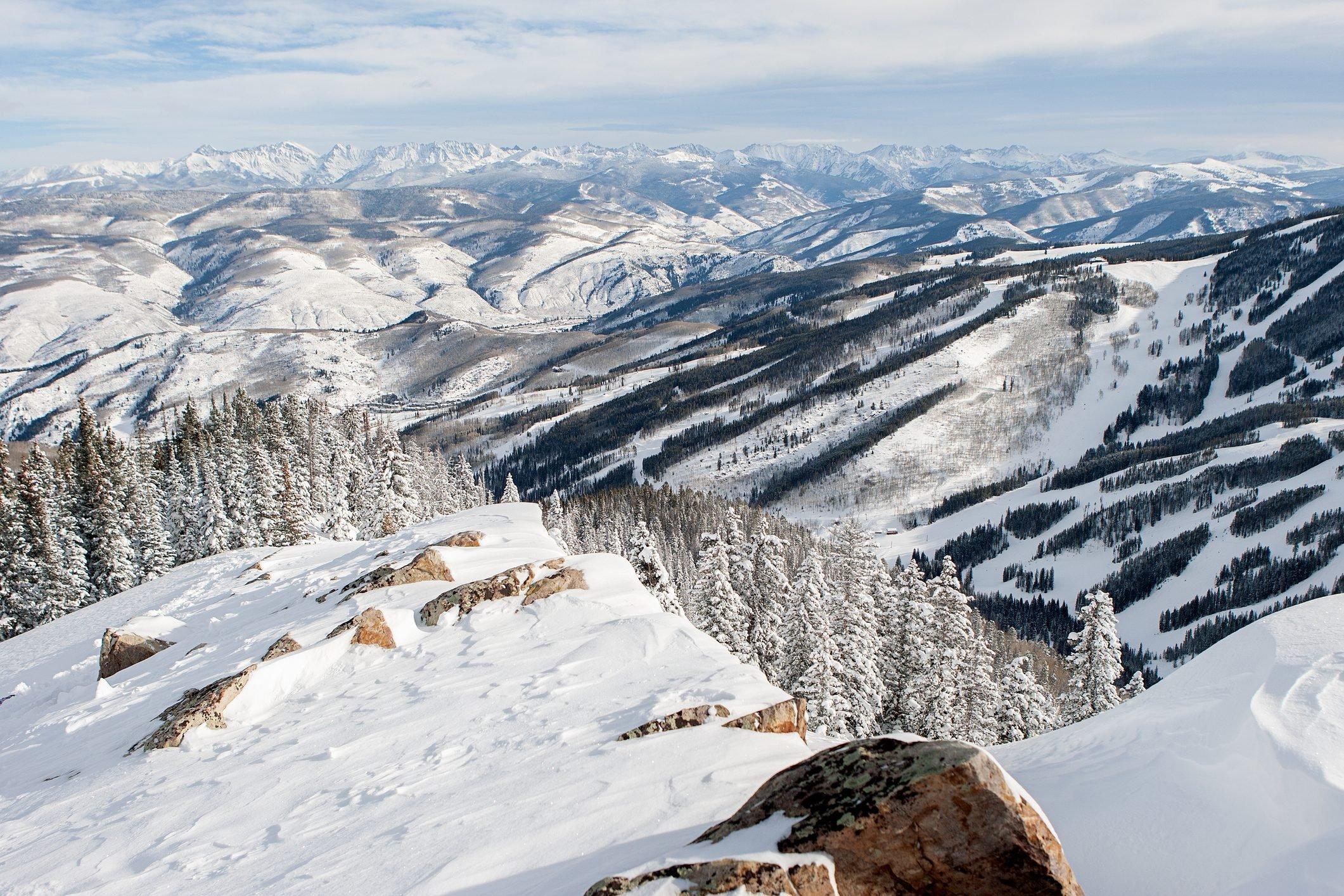 View of Beaver Creek Colorado.