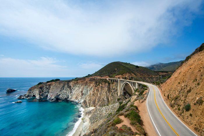 California Highway 1, the Pacific Coast Highway, near Big Sur