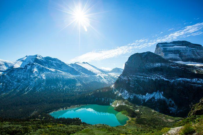 Scenic view of Glacier National Park.