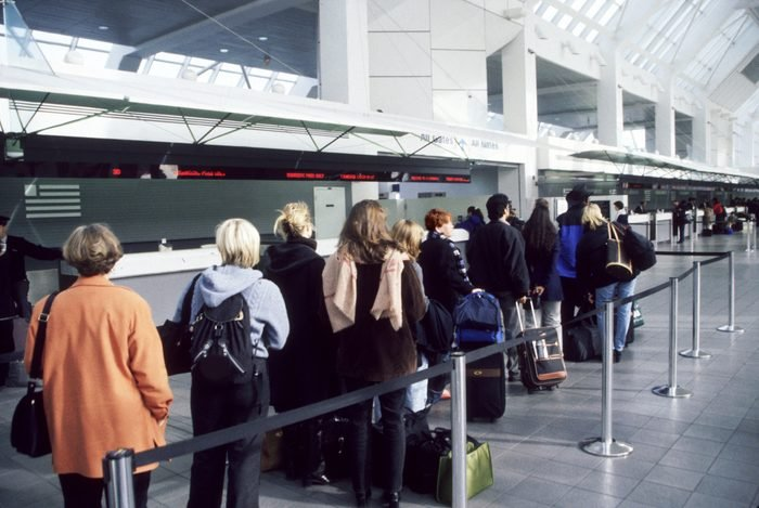 Travelers at the airport