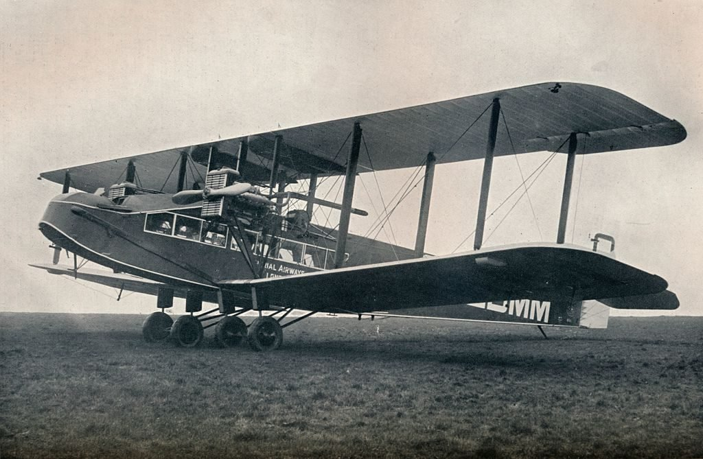 Handley-Page W.10 Passenger-carrying aeroplane operating on Imperial Airways, 1929.