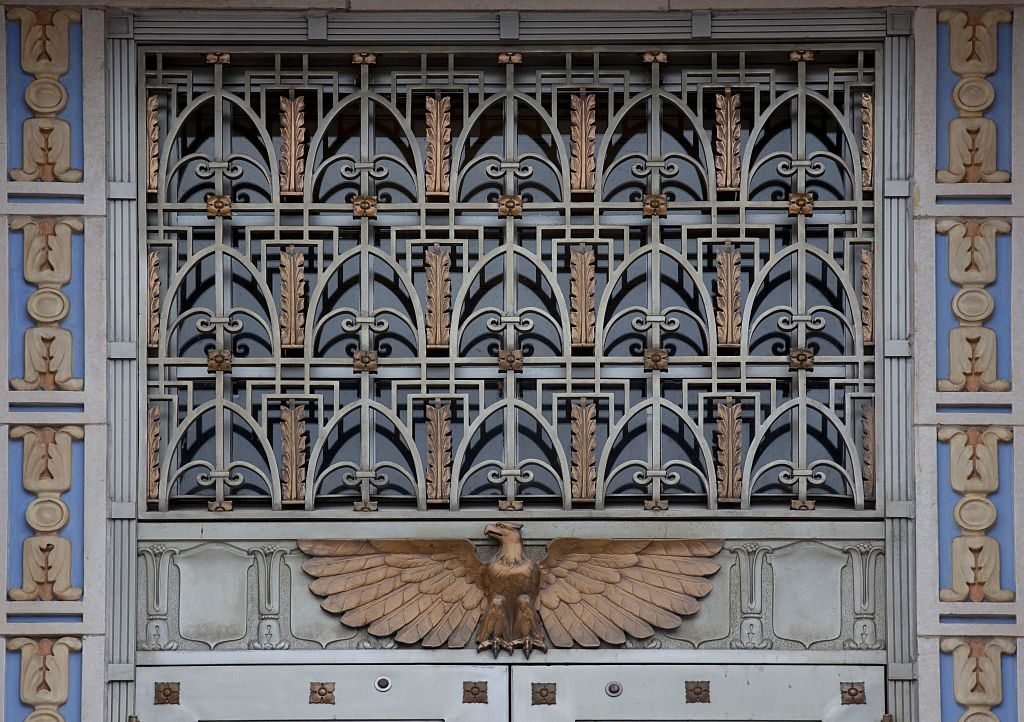 Door detail, U.S. Post Office and Courthouse, Camden, New Jersey