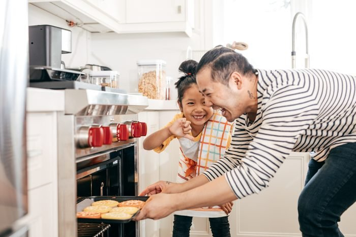 Baking cookies with dad