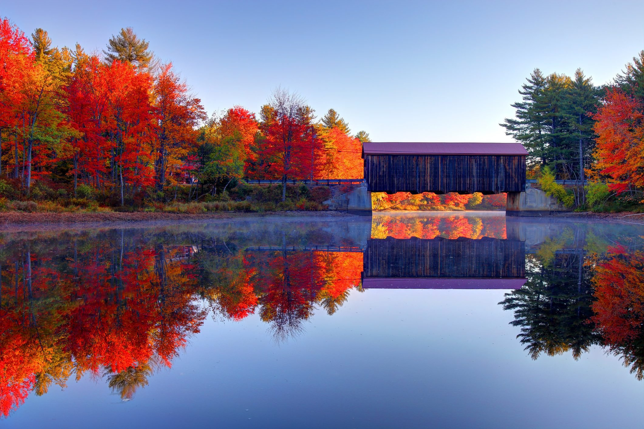 County Covered Bridge near Greenfield, New Hampshire