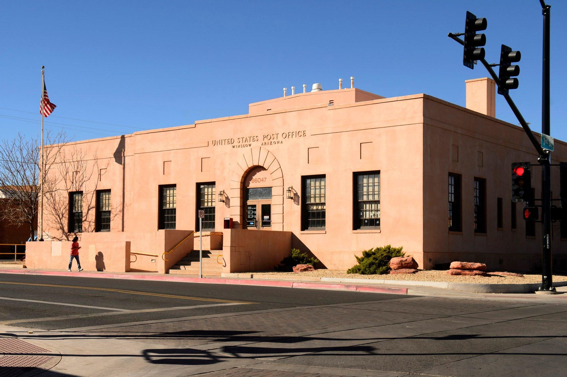 Post office at Winslow, Arizona, USA
