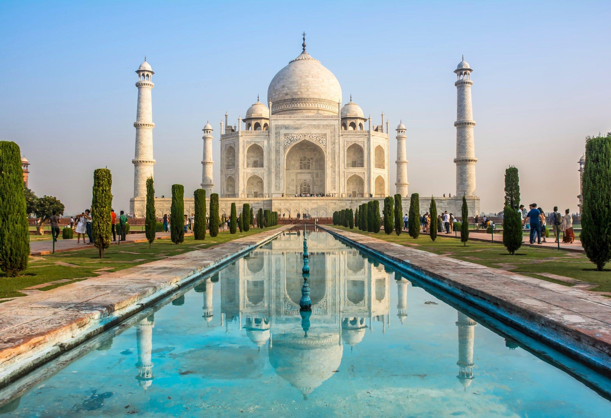Taj Mahal, Agra city, India.