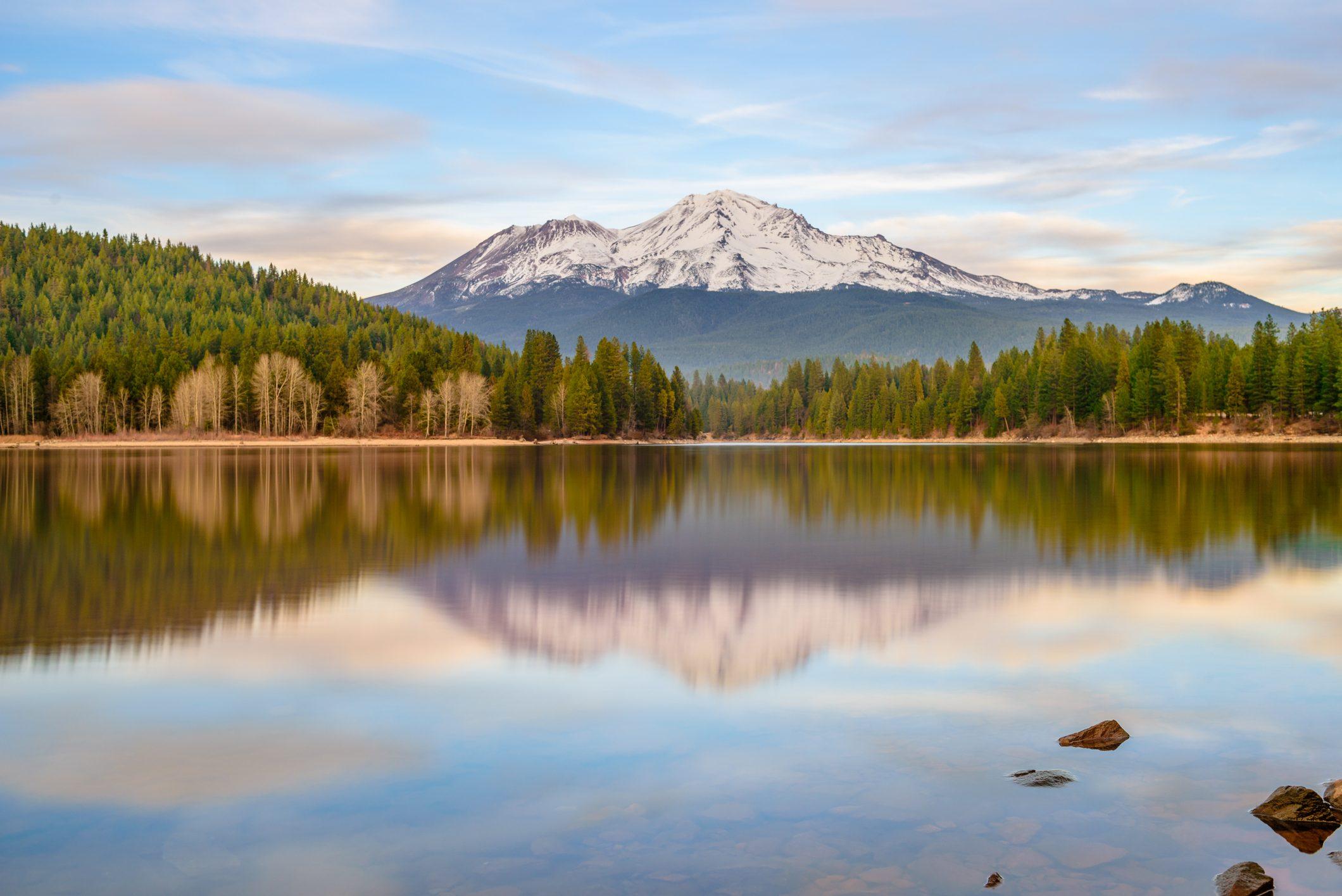 Mt.Shasta from Lake Siskiyou