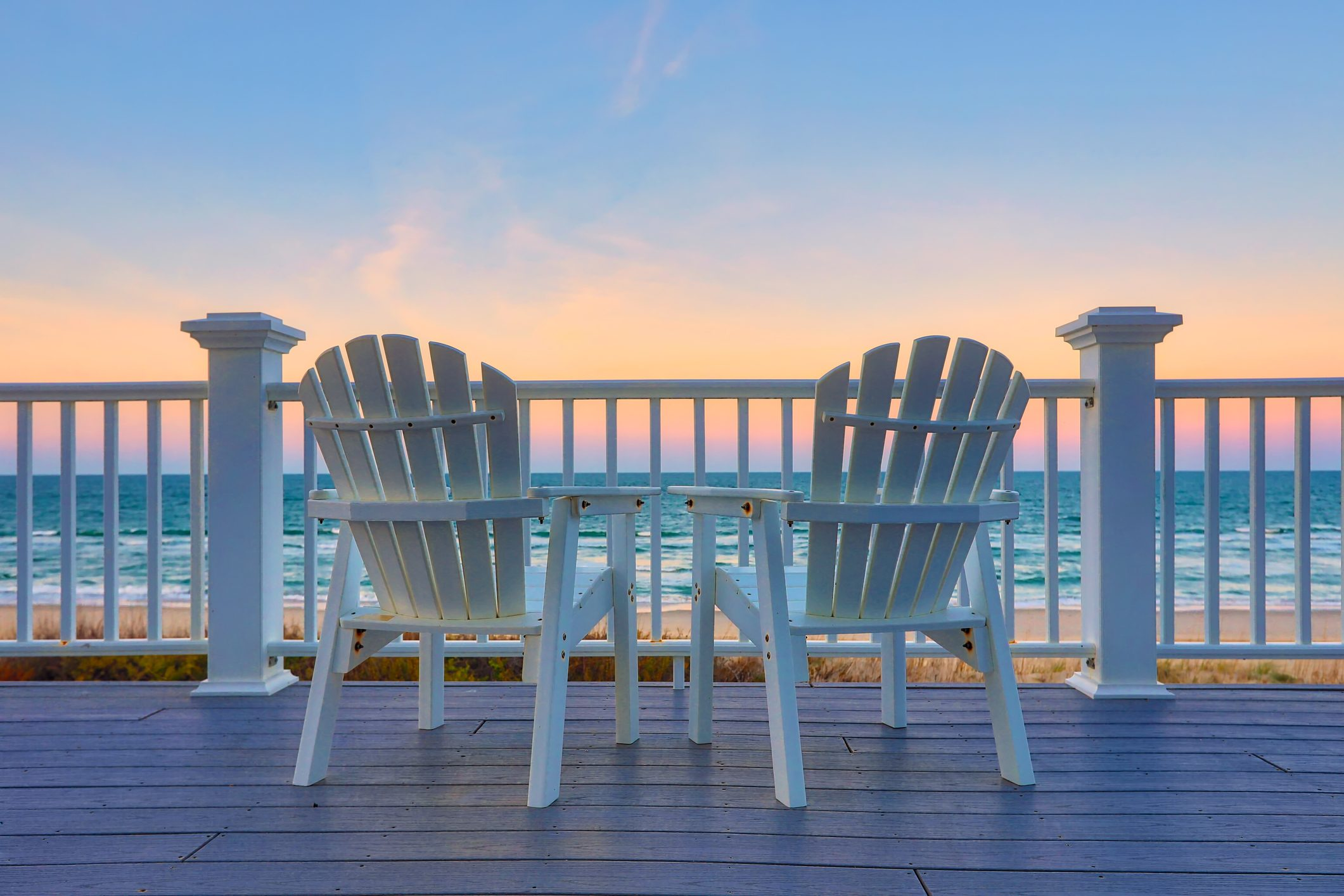Enjoy the view of the ocean from a chair while on vacation