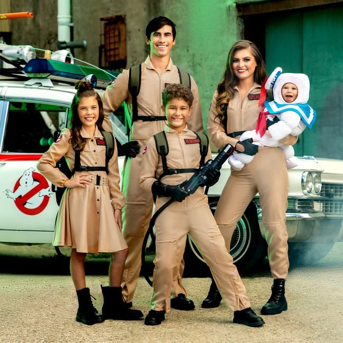 Ghost busters family costumes