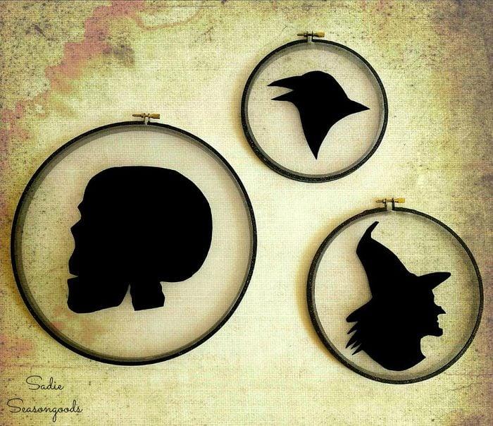 halloween silhouette craft