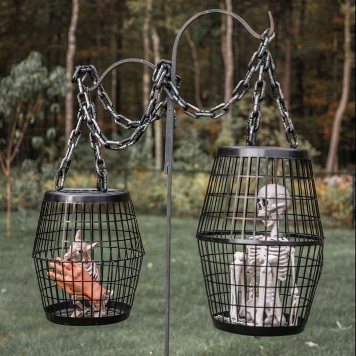 Hanging Caged Halloween creatures