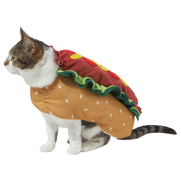 Hot Dog Cat Costume