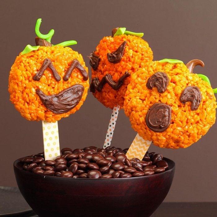 Jack O Lantern Pops halloween treat
