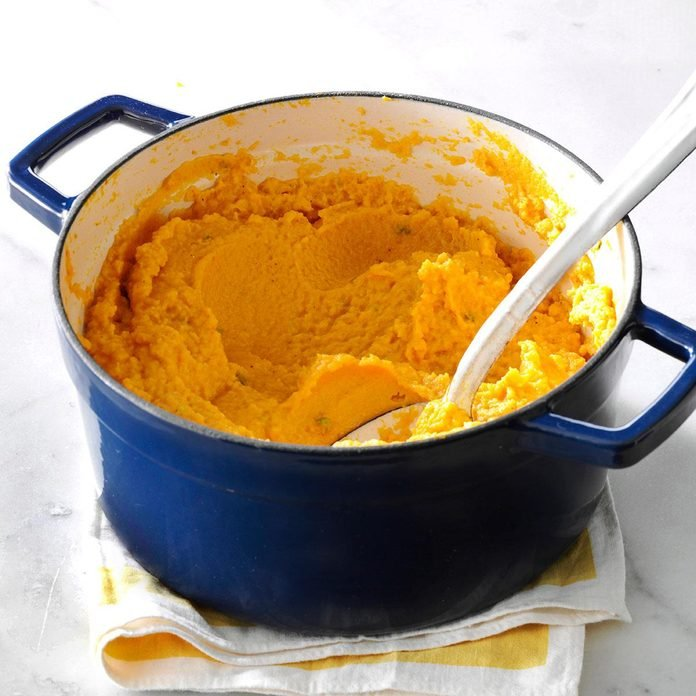 Pumpkin and cauliflower garlic mash