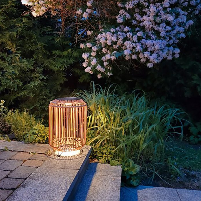 Solar Powered Integrated LED Outdoor Floor Lamp from wayfair