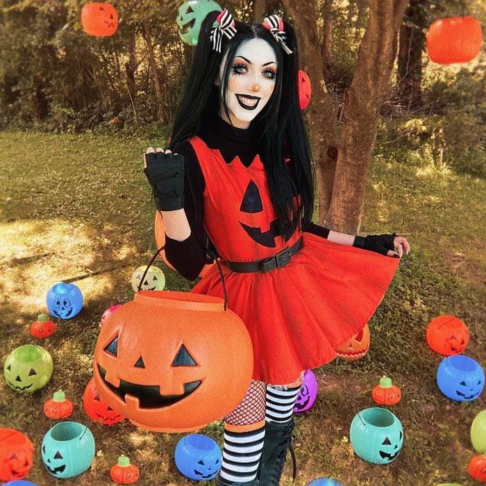 Spooky Jack O Lantern Halloween Costume